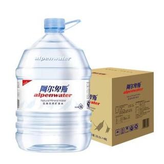 阿尔卑斯 饮用天然矿泉水5L*4桶 整箱 家庭版大桶升级装 *2件