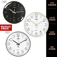 TIMESS/挂钟钟表客厅时钟 静音 简约石英钟 14寸35厘米