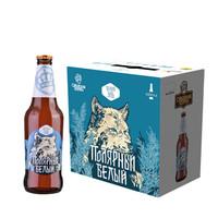 俄罗斯王冠精酿 极地雪狼 小麦啤酒 整箱440ml*6瓶 *2件