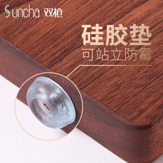 Suncha 双枪 整木乌 檀木切菜板 24*34*2.5cm
