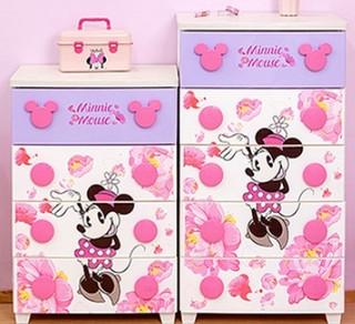 IRIS 爱丽思 迪士尼系列 米奇扣儿童收纳柜 密封型4层 粉色