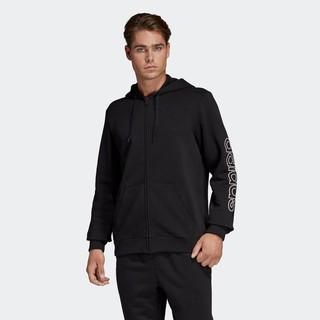 adidas 阿迪达斯 DU0364 男装连帽针织夹克外套