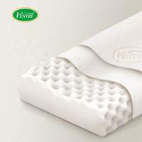 VENTRY 泰国进口枕芯天然乳胶枕头记忆枕头成人橡胶颈椎枕睡眠平滑高低颗粒按摩套 ECO 平滑枕 V2
