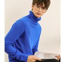 JEANSWEST 真维斯 男士高领纯色修身针织衫 DD-JE-94-191003 蓝色 L