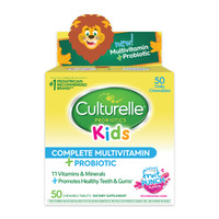 Culturelle 康萃乐 美国儿童综合维生素益生菌咀嚼片 50粒/盒 蓝莓味 美国进口 *2件