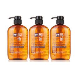 KUMANO COSMETICS 熊野油脂 无硅弱酸性马油洗护套装 600ml*3瓶装