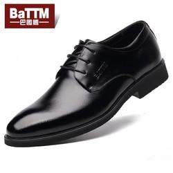 巴图腾 B16112601 男士真皮商务皮鞋