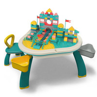 京东PLUS会员 : MING TA 铭塔 三叶草儿童积桌椅+学习板+80大颗粒 +凑单品