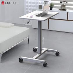 宜客乐思(ECOLUS)电脑办公书桌学习升降懒人桌 移动升降办公家具 坐站交替笔记本支架 培训课桌 LS802WT