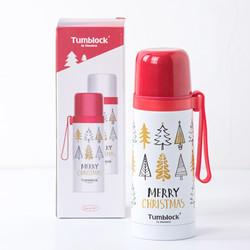 Glasslock 三光云彩 GTL5212CR 儿童304不锈钢保温杯 红色圣诞升级款 *3件+凑单品