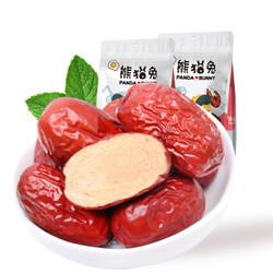 熊猫兔 新疆特产灰枣 蜜饯果干红枣休闲零食500/袋 *17件