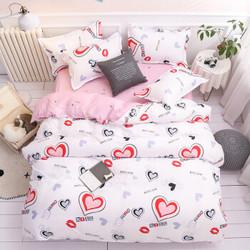秋冬芦荟棉四件套床上用品床单被套套装