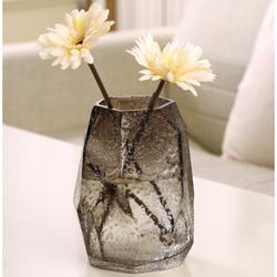 HOSTLY 豪斯特丽 几何石头玻璃花瓶 高22cm *3件