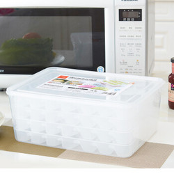 佳佰 家用多层冰箱保鲜专用冷冻饺子盘四层饺子收纳盒(84格) *6件
