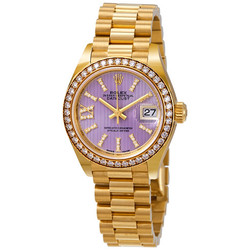 劳力士 Lady-Datejust 28 Liliac Dial 18K金