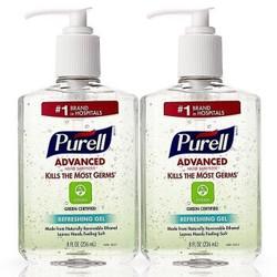 普瑞来Purell 免洗手消毒凝胶免洗杀菌速干洗手液不粘手。 绿色环保*2