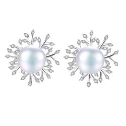 AITEKA 爱缇卡 925银 LM5 珍珠耳钉