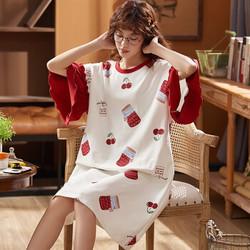 纯棉短袖睡裙