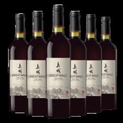 长城(GreatWall)红酒 宁夏产区赤霞珠干红葡萄酒 整箱装750ML*6