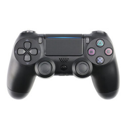 新视界 无线蓝牙手柄 带灯条适用于PS4游戏手柄 支持PS4主机/Steam平台/PC端 黑色