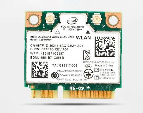 Intel/英特尔7260AC千兆无线网卡 Mini PCI-E接口 联想版 通用版蓝牙4.0 7260AC通用版