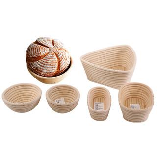 三能面包欧包发酵篮子手工藤条欧式发酵蓝椭圆形藤碗烘焙面包模具