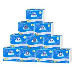 洁云平板卫生纸加韧300张10包原生浆抽取式方包厕纸柔韧厚实 *2件
