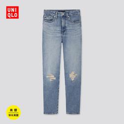 UNIQLO 优衣库 女装 高腰直筒牛仔裤(水洗产品) 421381
