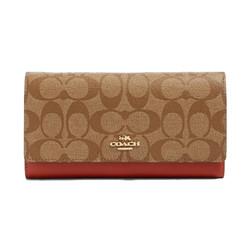 COACH 蔻驰 女士字母印花长款卡夹 卡包 钱包