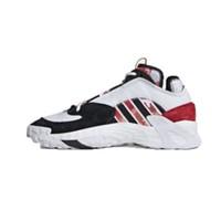 Adidas 三叶草 STREETBALL 男士休闲运动鞋 FW5270 亮白/黑色/浅猩红 41