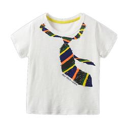 印象童年童装男童假领结T恤夏季2020新款休闲t恤男孩上衣薄