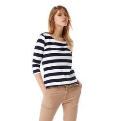 GANT/甘特 春潮流休闲女士条纹圆领五分袖长袖T恤 4202408 *3件