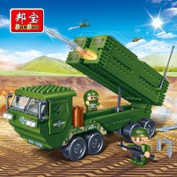 邦宝小颗粒积木玩具双旋翼运输直升机6205