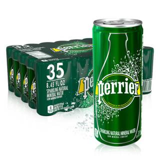 Perrier 巴黎水原味气泡水 天然矿泉水 250ml*35罐  *3件