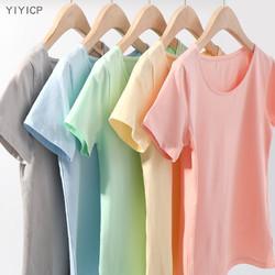 YiYiCp 女款纯棉纯色短袖 M-2XL码