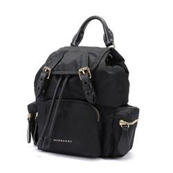 BURBERRY 巴宝莉 40759721 女款黑色织物小号斜背式双肩包