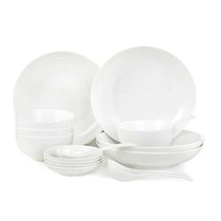 京造 白月光骨瓷系列 陶瓷餐具 16头