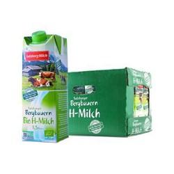 奥地利进口 萨尔茨堡(SalzburgMilch) 部分脱脂 有机牛奶 1L*12 整箱装 1.5%乳脂肪含量 *2件