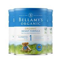 贝拉米有机奶粉 1段 900g 3罐