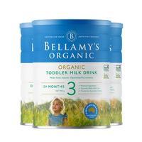 贝拉米有机奶粉3段900g 3罐