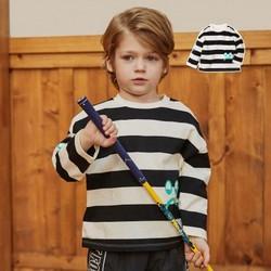迷你巴拉巴拉男童针织衫2020条纹打底衫印花童装