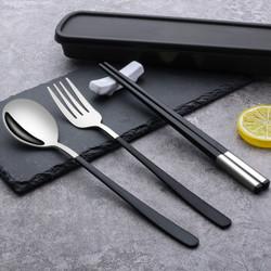 广意 (GRASEY)304不锈钢勺子筷子叉子套装 成人学生旅行便携餐具盒装四件套  GY7585 *31件