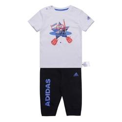 阿迪达斯儿童夏季 IN TEE 34 SET2 男婴童短袖 针织套服 CX3471