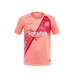 919235-694耐克巴塞罗那2018/19赛季第二客场儿童短袖队服运动T恤