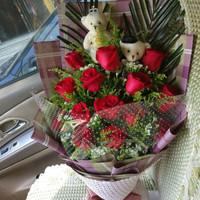 中礼鲜花速递 生日礼物 全国苏州同城配送 11枝红玫瑰花束 相城昆山吴江高新常熟 *2件