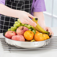 Momscook 不锈钢汤盆 菜盘 套装 304 大菜盘子 加厚 大容量 内径36CM *3件