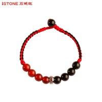 iSTONE 石头记 红黑玛瑙混搭手链