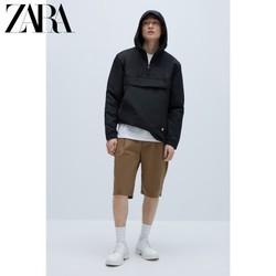ZARA 00397420800-28 袋鼠口袋派克外套