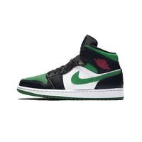 NIKE 耐克 Air Jordan 1 Mid 男士篮球鞋 黑绿脚趾