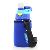 米拉贝尔 ME-726 儿童吸管便携不锈钢保温水杯 蓝色 400ML